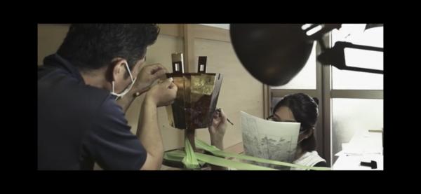 りゅうぎん琉球漆芸技術伝承支援事業/作業風景イメージPVの写真2
